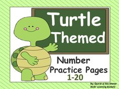 Turtle Themed Number Practice Pages (1- 20):This is a set of practice pages in which numbers are reviewed from 1-20.In this pack student will:-----Recognize and read the number in the box-----Trace the number -----Trace the number word-----Count and color the Winter images-----Coloring Ten frames according to the Number worksheet-----Drawing objects in the blank box to correspond with the number If you want any change kindly let me know.Write in Ask question tab.