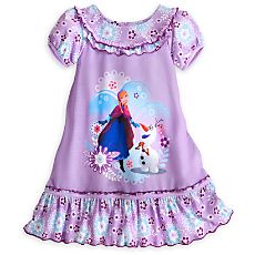 Anna and Olaf Nightshirt for Girls Size 7/8