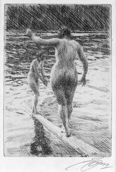 """""""It is of practical value to learn to like yourself. Since you must spend so much time with yourself you might as well get some satisfaction out of the relationship. A bad attitude can literally block love, blessings, and destiny from finding you. Don't be the reason that you don't succeed.""""  Image Anders Zorn"""