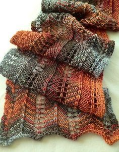 Project Gallery for Favorite Scarf Ever - free knitting pattern by Lisa Bruce Lace Knitting Patterns, Loom Knitting, Knitting Stitches, Free Knitting, Scarf Patterns, Knit Scarves Patterns Free, Cardigan Pattern, Knit Or Crochet, Crochet Scarves