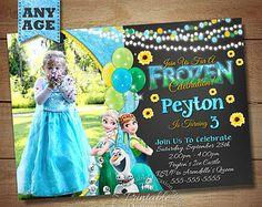 Frozen Fever Birthday Invitation, Frozen Fever Birthday Party, DIY Frozen Fever Invitation, Frozen Birthday Invitation, Frozen Chalkboard