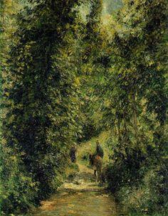 Amantes del Arte   Camille Pissarro, Camino a través del bosque, 1877. Óleo sobre lienzo. 65 x 92,5 cm. Museo de Orsay. París.