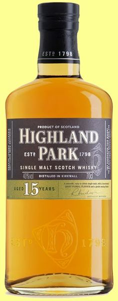 Highland Park 15 year old Single Malt Scotch Whisky