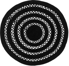 ALYSSA black round rug hand-woven made of nautical rope by Sitap – Newest Rug Collections Nautical Rope, Round Rugs, Rug Making, Hand Weaving, My Design, Carpet, Couture, Modern, Black Rugs
