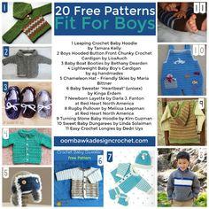 20 Free Crochet Patterns Fit for Boys http://j.mp/2bIJuTG - Tonya Grant - Google+