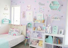 Pastel goodness in this adorable kids room by pastel__haven