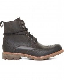 Townshend Leather & Wax Suede Wingtip Boot