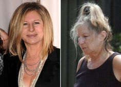 Barbara Streisand without makeup. Celebrities Before And After, Celebrities Then And Now, Girl Celebrities, Hollywood Celebrities, Barbara Streisand, Bad Plastic Surgeries, Celebs Without Makeup, First Ladies, Beauty Makeup