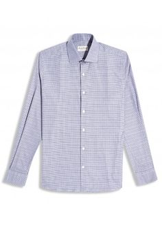 NAVY PRINCE OF WALES CHECK COTTON Casual Shirt