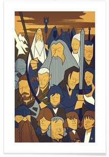 LORD OF THE RINGS 1 - Ale Giorgini - Affiche premium