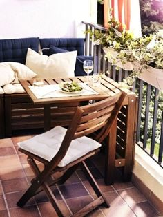 small balcony folding table modern university ideas balcony terrace set 3 #modernmansionideas