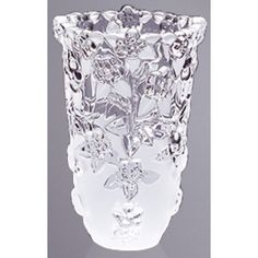 Walther  Carman Satin Vase 20cm.    With an opaque base and an embellished top, this gorgeous Carman Satin Vase is a fine representation of luxury at its best.