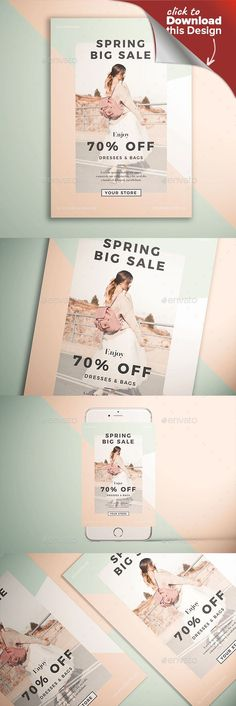 ad, advert, advertisement, clean, digital, event, fashion, flyer, illustration, invitation, kmzvr, kmzvrlab, poster, sale, sales, season, shop, shopping, spring, spring bash, spring break, Spring Festival, spring sale, spring time, store, summer, vector, woman With easy to customized and well organized file, it helps you to edit the content of this flyer even in a short time!   THE PACKAGE INCLUDES  PSD files 8.27×11.69 (with bleed) Ai files 8.27×11.69 (with bleed)  FEATURES  Fully…