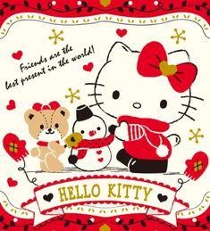 Hello Kitty Hello Kitty Christmas, Sanrio Characters, Fictional Characters, Hello Kitty Wallpaper, Little Twin Stars, Cute Cartoon, Presents, Snoopy, Beer