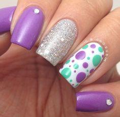 Mint n purple