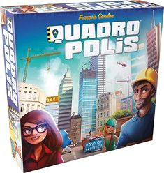 Quadropolis Board Game For 2 - 4 players. Ages 8 and up. Playable in 30 - 60 minutes. Player One, New Board, Games To Buy, City That Never Sleeps, Modern City, Day Work, Tabletop Games, Baby Play, Game Night