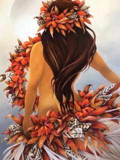 """""""Belle ce matin..."""" Acrylique sur toile, 100x73cm. Collection 2015."""