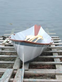This is a gentleman's dory built by joe Thompson of Salt Pond Rowing ...