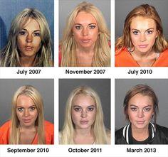 Lindsay Lohan's mugshots through the years