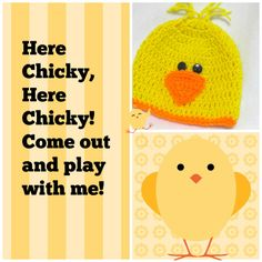 So ready for spring! Let your little one be ready with an adorable ducky/chicky hat.  https://www.etsy.com/listing/182938723/baby-duck-hat-yellow-duckie-hat-for-baby?