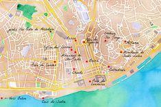 Plan des choses à voir à #Lisbonne. #Portugal