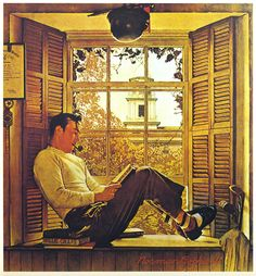 1946 - Willie Gillis at College- by Norman Rockwell | Flickr - Photo Sharing!