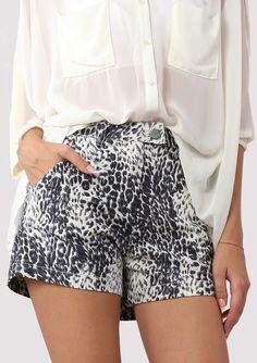 Leopard Print High Waist Shorts <3 Fashion Style