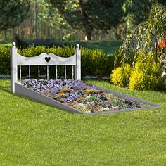 "Flower Bed Your yard is sure to be the talk of the town with this beautiful bed of flowers. 52""H x 55""W x 95""D. Parts Req'd: Spindles (7) W-588 Ball (2) W-510"