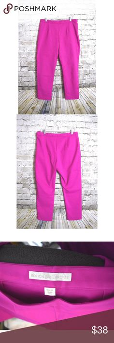 Boston Proper Size 14 Fuchsia Career Pant Excellent preowned condition Boston Proper Pants