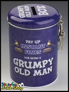 Grumpy Old Man Fine Tin Funny Gifts For Him Joke Money