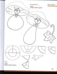 Topp - Herbstzeit-bastelzeit / Őszi ablakképek és kreatív ötletek Diy And Crafts, Crafts For Kids, Paper Crafts, Fall Halloween, Halloween Crafts, Classroom Crafts, Fall Decor, Quilt Patterns, Clip Art