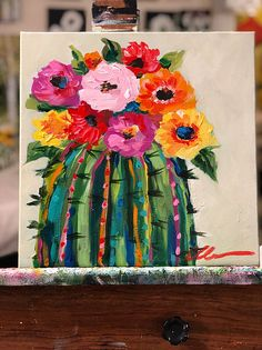 What is Your Painting Style? How do you find your own painting style? What is your painting style? Cactus Painting, Cactus Art, Painting & Drawing, Cactus Decor, Painting Process, Succulents Painting, Cactus Flower, Cute Canvas Paintings, Acrylic Painting Canvas