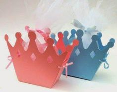 Birthday party or baby shower favors - lots of colours! Little prince, princess party. Queen of hearts. Prince Birthday Party, Prince Party, Gift Box Birthday, Princess Birthday, Baby Birthday, Princess Theme, Baby Shower Princess, Royal Princess, Princess Favors