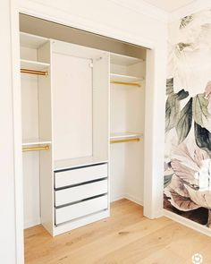Ikea Pax hack: How to Customize a Small Closet with the Pax System - The Pink Dream Ikea Pax Hack, Ikea Closet Hack, Ikea Pax Wardrobe, Closet Hacks, Ikea Hacks, Ikea Closet System, Ikea Ikea, Wardrobe Ideas, Small Closet Design