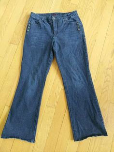 4743972e Gitano 16 Stretch Jeans Flap Pocket Boot Cut Side Buttons #Gitano  #BootCutFlare