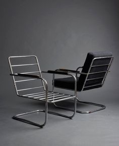 Hans Luckhardt, armchair KS42, 1933. Chromed tubular steel. Berlin, Germany.