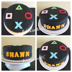 Video Game Cakes, Video Game Party, Cake Videos, Video Games, Teen Boy Cakes, Cakes For Boys, Adult Birthday Cakes, Birthday Games, Beautiful Cakes