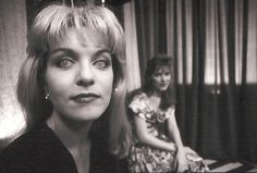 Sheryl Lee on set as Laura Palmer in the Black Lodge, final episode - by Richard Beymer