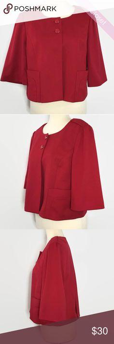 Loft Bright Red Cap 3/4 Sleeve Blazer NWT NWT  Loft Bright Red Cap 3/4 Sleeve Blazer LOFT Jackets & Coats Blazers