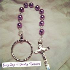 Purple pearl glass beads/ rosary bracelet / so pretty