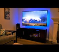 how to add led lights behind your flat screen television pinterest easy diy projects super. Black Bedroom Furniture Sets. Home Design Ideas