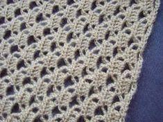 Gehaakte rechte sjaal, incl. patroon