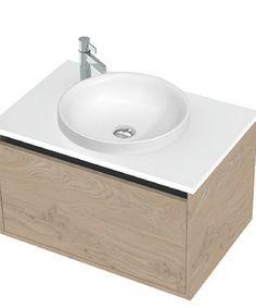 Respect Basin, Matte Cherry Pie, Semi-Inset | St Michel Bathroomware