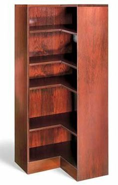 1100 NY Series Inside 60 Corner Bookcase by Hale Products, Inc. $1160.99. Designed with beveled front edges and lock joint mitered corners with no over-hanging edges. These Hale cases allow for easy installation for end-to-end or back-to-back groupings creating a custom built look. Each case has a solid lumber base front and 1/4 printed back. The shelves are constructed of 3/4 solid hardwood lumber with a 2 front edge of Birch, Walnut or Oak, finished to a uniform colo...