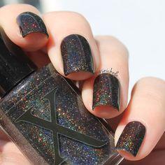 Mirror, Mirror - Pitch Black Holographic Nail Polish