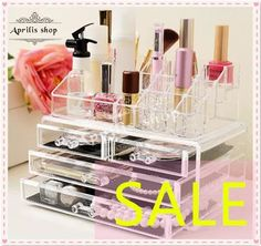 [S$23.90](▼66%)✩ SALE! ✩ BIG Size Acrylic Cosmetic Organizer /Ready Stock Storage Box / Luxury jewelry Acrylic Makeup case drawer.lipstick holder