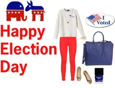 """""""election day"""" by enh410 ❤ liked on Polyvore"""