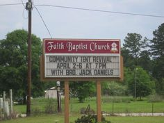 Unfortunate choice of name for the guest preacher.