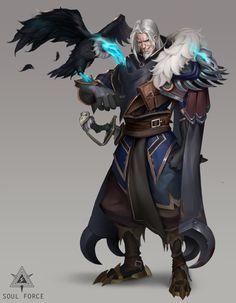 ArtStation - Ranger, Shiqi Huang Fantasy Concept Art, Fantasy Character Design, Fantasy Artwork, Character Design Inspiration, Character Concept, Character Art, Dungeons And Dragons Art, Dungeons And Dragons Characters, Dnd Characters