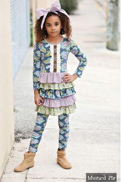 061cc3f06aee Mustard Pie Josephine Dress Emerald Dance PREORDER Girls Boutique
